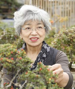 Chiyako Yamamoto is the only female bonsai master in Japan