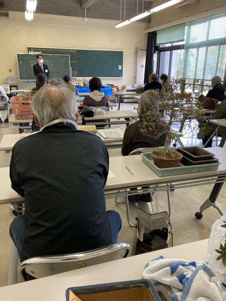 城山公民館の成人学校盆栽講座「悠遊BONSAI」が開校
